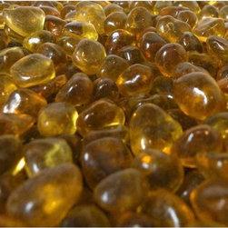 American Fireglass Crystal Yellow Eco Fire Glass - *Crystal Yellow Fire Glass