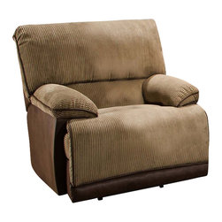Catnapper - Catnapper Clayton Chaise Glider Recliner in Camel and Chocolate - Catnapper - Recliners - 13406182036230709 - The Clayton Collection by Catnapper will create a look of contemporary freshness and infinite comfort in your living room. The pieces are covered in luxurious, two tone camel and chocolate fabric with contrast welts. Heavy duty cleanable cover, neutral colors, lower lumbar support, and extra soft arm rests will make this collection a great choice for you and your home.