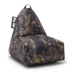 Comfort Research - Comfort Research Big Joe Banana Chair // Camo Gabardine - Everyone wants to sit on the Big Joe Banana Chair. It's versatility lets it be used as a chair or a lounger. Whether it's watching TV, playing video games, reading, or just relaxing, this chair fits the bill. With it's easy-carry handle, even your child can move it from room to room. Made with tough, stain and water-resistant SmartMax Fabric. Filled with UltimaX Beans that conform to you, not the other way around! Double stitched and double zippers for added strength and safety. Recommended for ages 2 and up.