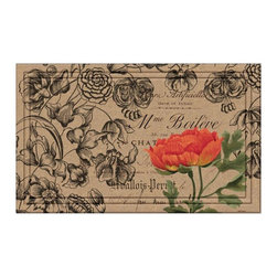 Naturelles - Naturelles Vintage Floral Peony Doormat Multicolor - 60-797-1573-01800030 - Shop for Rugs and Runners from Hayneedle.com! Beautifully designed the Naturelles Vintage Floral Peony has an elegant floral design highlighted by a splash of brilliant color. This eco-friendly recycled crumb and recycled carpet format features thick rubber backing which not only prevents the matting of the surface carpet but also offers long lasting durability. Water resistant to keep your shoes dry this mat has a textured surface so you can easily scrape off mud dirt and snow and is decorated with fade-resistant colors. A gorgeous addition indoors or out this mat is made in the USA.