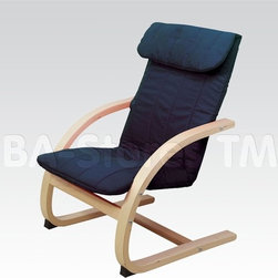 Fabric Youth Relaxing Chair in Navy -