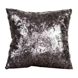 """Howard Elliott Silver Fox 20"""" x 20"""" Pillows - Change up color themes or add pop to a simple sofa or bedding display by piling up the pillows in a multitude of colors, textures and patterns. This Silver Fox Pillow features a faux fur texture with metallic finish"""