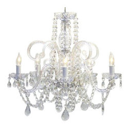 The Gallery - Crystal Chandelier - Dare to dazzle in your decor. This incomparable crystal chandelier makes a brilliant ceiling centerpiece for your favorite formal setting, lending an aura of romance, drama and magic.