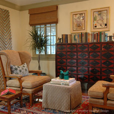 Eclectic Family Room by Heather Vaughan Design