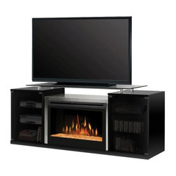 Dimplex Marana Electric Fireplace Media Console - Dimplex Marana Electric Fireplace Media Console features modern design and has plenty of storage space for organizing electronic accessories, media equipment, and DVD's.
