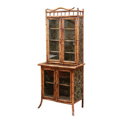 Victorian Bamboo and Lacquer Cabinet - The HighBoy, Crow & Company Antiques.