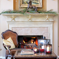 Traditional  Christmas Fireplace Mantel