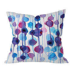 DENY Designs - CMYKaren Abstract Watercolor Throw Pillow, 26x26x7 - Wanna transform a serious room into a fun, inviting space? Looking to complete a room full of solids with a unique print? Need to add a pop of color to your dull, lackluster space? Accomplish all of the above with one simple, yet powerful home accessory we like to call the DENY throw pillow collection!