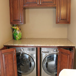Columbus under counter washer dryer laundry room design for Under cabinet washer and dryer