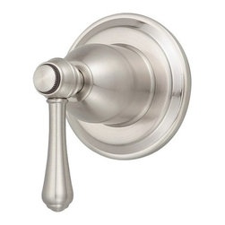 """Danze - Danze D560957BNT Brushed Nickel Opulence Volume Control Valve Trim - Product Features:Trim plate and handles feature all-brass constructionFully covered under Danze's limited lifetime faucet warrantyHigh-quality finishing process – finish covered under lifetime warrantyBathroom trims from Danze are engineered to function flawlessly and feature enduring designsVolume control valve cartridge – controls volume only, to be coupled with thermostatic cartridgeADA compliant handleUltra-secure mounting assemblyAll hardware required for trim installation is includedRough-in valve is sold separately (when checking out valve options will be presented)Product Technologies and Benefits:Universal Valves:This feature takes any guess work completely out of the picture when looking to remodel the shower. Every valve from Danze will work with any faucet trims, making it easy and user friendly for you to build the shower system of your dreams.Product Specifications:A swinging temperature dial allows for pin-point volume and temperature controlEscutcheon (Cover Plate) Dimensions: 3-1/8"""" W X 3-1/8"""" HRough-in valve is sold separately (when checking out valve options will be presented)Designed to easily install with standard U.S. plumbing connections"""