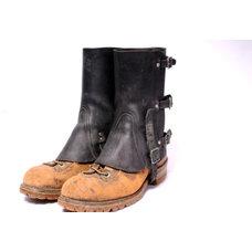 Vintage Steam Punk Leather Spats J by MetropolisNYCVintage on Etsy