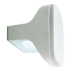 """LuceCrea - LuceCrea Sky Wall or Ceiling Outdoor Light - The Sky wall or ceiling  light by LucePlan has been designed by Alfredo Haberli, 2007. This mounted luminaire is perfect for energy efficient LED lighting.Range of lamps with IP65 protection for outdoor use Body and cover in die cast aluminum/transparent polycarbonate diffuser Painted white, aluminum or chestnut. Designed for energy saving lamps, with LED with photovoltaic cells and rechargeable batteries, wire-free, with high-efficiency LED- powered by the sun. This state-of-the-art luminaire offers style and versatilty while providing brilliant energy saving light. Product description:  The Sky wall or ceiling  light by LucePlan has been designed by Alfredo Haberli, 2007. This mounted luminaire is perfect for energy efficient LED lighting.Range of lamps with IP65 protection for outdoor use Body and cover in die cast aluminum/transparent polycarbonate diffuser Painted white, aluminum or chestnut. Designed for energy saving lamps, with LED with photovoltaic cells and rechargeable batteries, wire-free, with high-efficiency LED- powered by the sun. This state-of-the-art luminaire offers style and versatilty while providing brilliant energy saving light.  Details:     Manufacturer:  LucePlan       Designer:   Alfredo Haberli, 2007     Made in: Italy   Dimensions:  Height: 6.29"""" (16 cm) X Width: 7.78"""" (20 cm)       Light bulb: 1 X FSM GX24q-3 Max 26W     Material: Polcarbonate, aluminum"""