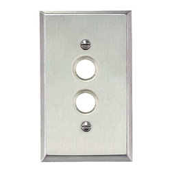 Renovators Supply - Switchplates Brushed Stainless Steel 1 Pushbutton Switch Plate - Switchplates: It only takes a moment to reinvigorate a room with these Stainless Steel wallplates.