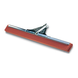 "UNGER - C-Water Wand 30 (HW30) Heavy Duty, Neoprene, Red - Digs deep into tile crevices and uneven surfaces to remove liquids, leaving floor finger dry. Twin moss foam rubber blades. Choose from standard- or heavy-duty Squeegee with rugged galvanized steel construction and splash guard. Tapered socket; use with aluminum handle UNG AL140 (sold separately). Optional plastic insert UNG FWAI (sold separately) will convert water wand from tapered socket to Acme threaded socket. Heavy-Duty Red Neoprene. 30. With oil-resistant rubber. 30"". Water Wands."