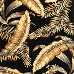 "Kas - Tropical Ferns Black Sparta Floral 3'6"" x 5'6"" Kas Rug  by RugLots - Our Sparta Collection is an exclusively designed line of hand-tufted carpets with an antique finish. These rugs are made in China using high density Chinese wool. Classic and new designs in floral and other styles have been constructed using current color trends. These rugs are finished with an antique vegetable-dyed look and abrash effect. The combination of fresh color and design and antique finish gives this collection unique trend-setting characteristics."