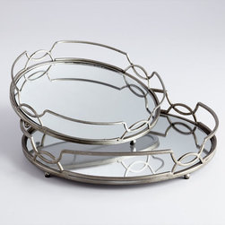 Cyan Design - Lady Anne Trays - Lady anne trays - stainless steel