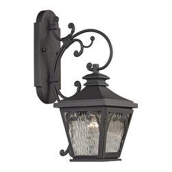 Elk Lighting - Forged Camden 1-Light Outdoor Sconce in Charcoal - Forged Camden collection 1 light outdoor sconce in charcoal