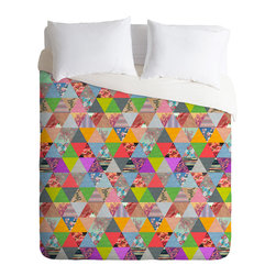 DENY Designs - Bianca Green Lost In Pyramid Duvet Cover - Turn your basic, boring down comforter into the super stylish focal point of your bedroom. Our Luxe Duvet is made from a heavy-weight luxurious woven polyester with a 50% cotton/50% polyester cream bottom. It also includes a hidden zipper with interior corner ties to secure your comforter. it's comfy, fade-resistant, and custom printed for each and every customer.