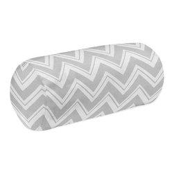 Sweet Jojo Designs - Zig Zag Yellow and Gray Chevron Neckroll Pillow by Sweet Jojo Designs - The Zig Zag Yellow and Gray Chevron Neckroll Pillow by Sweet Jojo Designs, along with the  bedding accessories.