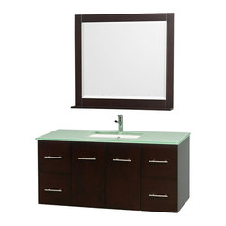 Wyndham Collection - Wyndham Centra Vanity - Simplicity and elegance combine in the perfect lines of the Centra vanity by the Wyndham Collection . If cutting-edge contemporary design is your style then the Centra vanity is for you - modern, chic and built to last a lifetime.
