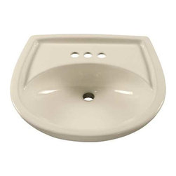"American Standard - American Standard Colony Pedestal Lavatory Bowl 21"" Bone - Features:"
