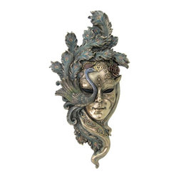 TLT - 21.5 Inch Cold Cast Bronze Venetian Mystique Peacock Mask Wall Plaque - This gorgeous 21.5 Inch Cold Cast Bronze Venetian Mystique Peacock Mask Wall Plaque has the finest details and highest quality you will find anywhere! 21.5 Inch Cold Cast Bronze Venetian Mystique Peacock Mask Wall Plaque is truly remarkable.