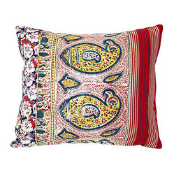 Multipatterned Patchwork Pillow