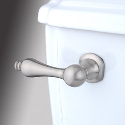 Kingston Brass - Toilet Tank Lever - The smooth surface and soft curves of the Victorian Tank Lever provide a strong sense of design for your bathroom decor.; Made from satin nickel; Solid cast brass construction; Coordinates perfectly with Victorian collection; Victorian design; Fit most water closet mechanisms; Material: Brass; Finish: Satin Nickel; Collection: Victorian