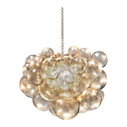 Oly Studio - Muriel Chandelier - Muriel Chandelier is available in a Antique Silver finish with Clear resin balls. The Muriel Chandelier offers a stunning look in every interior. The soft, cool luster of the cast resin finish with antiqued silver chain and support beautifully highlight the Muriel Chandelier's intricate details, delicate curves and flat expanses alike. Five 40 watt, 120 volt A19 type Medium base Incandescent lamps are required but not included. 31.5 inch width x 25 inch height. Supplied with a 36 inch chain.
