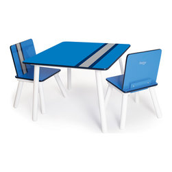 P'kolino - P'kolino Classically Cool Tables and Chairs, Racing Stripe - Children will love to take a seat at this classically cool table and chair set. With bright, bold colors and patterns, this playful set is a great addition to any bedroom or playroom.