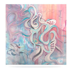 """Kess InHouse - Mat Miller """"Tempest"""" Metal Luxe Panel (8"""" x 8"""") - Our luxe KESS InHouse art panels are the perfect addition to your super fab living room, dining room, bedroom or bathroom. Heck, we have customers that have them in their sunrooms. These items are the art equivalent to flat screens. They offer a bright splash of color in a sleek and elegant way. They are available in square and rectangle sizes. Comes with a shadow mount for an even sleeker finish. By infusing the dyes of the artwork directly onto specially coated metal panels, the artwork is extremely durable and will showcase the exceptional detail. Use them together to make large art installations or showcase them individually. Our KESS InHouse Art Panels will jump off your walls. We can't wait to see what our interior design savvy clients will come up with next."""