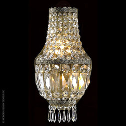 Worldwide Lighting Metropolitan Wall Sconce W23086AB8 - Worldwide Lighting Metropolitan Collection 3 light Antique Bronze Finish with Clear Crystal Wall Sconce Light