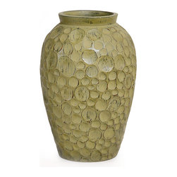 Modern Green Vase - Handcrafted clay pottery