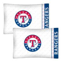Store51 LLC - MLB Texas Rangers Baseball Set of 2 Logo Pillowcases - Features:
