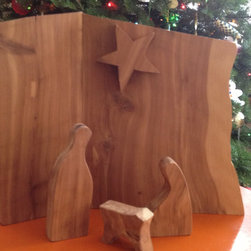 Modern Nativity Set by Woodland Mod - A simple handmade nativity will easily work with modern or traditional decor.