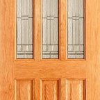 Doors by ABL Doors - This Oak Chateaux Style Elegant door lives up to its name by providing a bright and airy starting point for visitors to your home and greets you with luxury. The double glazed units on the door help to give your home to give you a warm and inviting environment.