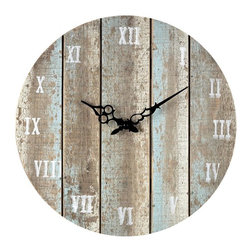 Sterling Industries - Wooden  Roman Numeral Outdoor Wall Clock. - Wooden  Roman Numeral Outdoor Wall Clock.