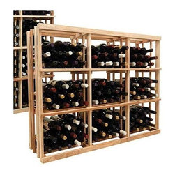 Wine Cellar Innovations - 3 ft. 3-Column Wooden Wine Rack (Prime Mahogany - Unstained) - Choose Wood Type and Stain: Prime Mahogany - Unstained. Bottle capacity: 144. Three column wine rack. Versatile wine racking. Custom and organized look. Can accommodate just about any ceiling height. Can store wood cases, cardboard boxes or loose wine bottles. Wine rack: 45.69 in. W x 13.5 in. D x 35.94 in. H (16 lbs.). Optional base platform: 45.69 in. W x 13.38 in. D x 3.81 in. H (5 lbs.). Vintner collection. Made in USA. Warranty. Assembly Instructions. Rack should be attached to a wall to prevent wobble