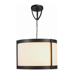 World Imports - Edmonton 9 Light Pendant w Shade in Euro Bron - Manufacturer SKU: WI143429. Bulbs not included. Canopies arch down and capture chain. Euro Bronze Finish. Hard back linen shades in sturdy iron frames. Edmonton Collection. 9 Lights. Power: 60w. Type of bulb: Medium (Regular). Euro Bronze finish. 10 ft. Chain & 12 ft. Wire. 21 in. D x 16.5 in. H (8.77 lbs.)Perfect for lofts, tall foyers, even commercial applications, simplicity at its best