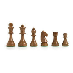 Beginner Staunton Chess Pieces - The Beginner Staunton Chess Pieces are perfect for players of all levels including those who are new to the game of chess. Hand-carved from solid wood and finished in traditional light and dark tones these pieces are highly detailed and have the classic silhouettes you expect making the game easier for novices. Each piece has a green felt bottom to protect your board and your table top from scratches. Perfect for any situation they're sure to provide hours of enjoyment. About Cambor GamesNew Jersey-based Cambor Games has spent the last 40 years developing product lines to address a variety of classic gaming needs. The company offers chess sets backgammon boards poker equipment dominoes mahjong tiles and more. From traditional designs to novelty themed items value-priced beginner sets to high-end collectors' dreams Cambor Games has the game equipment you need to have years of fun with close friends or bitter rivals.