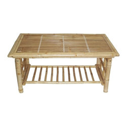"Bamboo54 - Bamboo Folding Coffee Table - Bamboo folding coffee table with magazine rack on the bottom. Use our 5451 side tables for a matching living room or sun room set. Measures 42""L x 23.5"" W x 18"" H . Made in Vietnam."