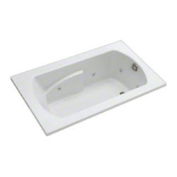Sterling - Sterling Lawson 76271110 60 in. x 36 in. Whirlpool Bathtub - 76271110-0 - Shop for Jetted/Whirlpool from Hayneedle.com! Take a bath and enjoy a stress-relieving massage with the 5-foot Sterling Lawson 76271110 60 in. x 36 in. Whirlpool Bathtub complete with 6 adjustable jets. The design of this piece provides a clean look with a contemporary feel that will elevate the decor of your home bathroom. One of its most luxurious features is its carefully contoured backrest with lumbar support. Capable of holding up to 59 gallons of water this relaxing tub is ideal for the individual who enjoys a nice long soak after a hard day's work! As for the construction of this bathtub Sterling has a reputation for quality craftsmanship and like all of their other bath products; this unit is made from solid Vikrell. The compression-molded Vikrell is a Sterling exclusive that provides strength durability and a lasting beauty that you can customize with your own choice of finish. Kohler almond Kohler biscuit and pure white are all available with a coating of high-gloss that creates a smooth shiny surface which looks marvelous and is incredibly easy to clean. This CSA-certified bathtub measures 60W x 36D x 20.3125H inches and fits nicely into any standard opening making it especially convenient for retrofit as well as new build settings. Receptor only; end walls and back walls can be ordered separately. Available in your choice of left- or right-hand drainage. About SterlingEstablished in 1907 and quickly recognized as a leading manufacturer of faucets and brassware Sterling has been known for their diversity of products and industry-leading designs for over a century. In 1984 Sterling was acquired by Kohler Co. to create a mid-priced full-line plumbing brand and allow Kohler the opportunity to sell their products in retail stores. Over the years Kohler quickly began acquiring other companies to help enhance the Sterling line of products that was quickly growing into the likes