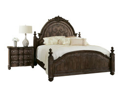 American Drew - American Drew Jessica McClintock Boutique 4-Piece Mansion Bedroom Set - 4 Piece Mansion Bedroom Set belongs to Jessica McClintock Boutique collection by American Drew