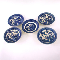 Blue and White Plates, Chinoiserie by Rhapsody Attic - You could, of course, use these chinoiserie bowls for their intended use, but I'd hang them as a plate wall above a credenza. What's not to love about an instant collection?