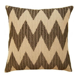 Squarefeathers - Dakota, Chevron Pillow - The Dakota Collection is excellent for any background landscape. It would be perfect for any sun room! Made of cotton, rayon, polyester, and nylon with a knife edge trim. It has a soft and pump feataher/down insert inclosed with a zipper. Like all of our products, this pillow is handmade, made to order exclusively in our studio right here in the USA.
