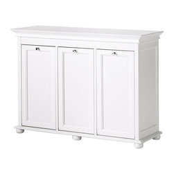 Home Decorators Collection - Hampton Bay Tilt-Out Hamper, Triple, White - Every closet has a few necessities, and a clothes hamper is one of them. I love this one with three pull-out compartments. It's really pretty and just looks like a nice piece of furniture.