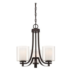 Minka Lavery - Minka Lavery 4103-172 3 Light 1 Tier Chandelier from the Parsons Studio Collecti - Three Light Single Tier Chandelier from the Parsons Studio CollectionFeatures: