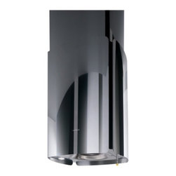 """Elica - ECH623SS Chrome 23"""" Polished Steel Island Range Hood with 600 CFM Internal Blowe - Chrome a magical merge of technology and form A monolithic symbol captured in time shimmering eternally defined in evocative imagery and reflection A daring exercise in design where technology permits absolute silence and control is almost magically ..."""
