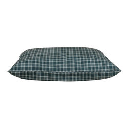 """Carolina Pet Company - Indoor/Outdoor """"Shebang"""" - Plaid - Great for decks, patio's or dog houses.  These 100% polyester beds can handle all your outdoor activities.  Indoor or out, these beds are great for older incontinent pets too.  Hose down to clean, the water runs right through or machine wash.  UV protected to keep color from fading."""