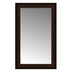 """Posters 2 Prints, LLC - 18"""" x 28"""" Dark Copper Custom Framed Mirror - 18"""" x 28"""" Custom Framed Mirror made by Posters 2 Prints. Standard glass with unrivaled selection of crafted mirror frames.  Protected with category II safety backing to keep glass fragments together should the mirror be accidentally broken.  Safe arrival guaranteed.  Made in the United States of America"""